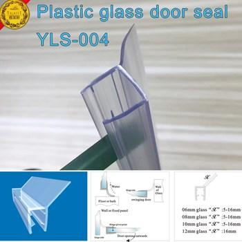ecofriendly frameless shower door seal with translucent vinyl edge for 38