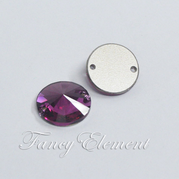 Wedding Dress Swarovski Elements 14mm Fuchsia(502) Rivoli Sew On Rhinestones