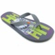 Fancy summer beach flip flops with unique design printing rubber slippers comfortable shoes