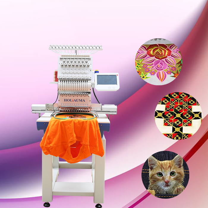 HO1501 single 15 colors fast speed computerized new manual screen printing embroidery machine for cap/t shirt/flat price