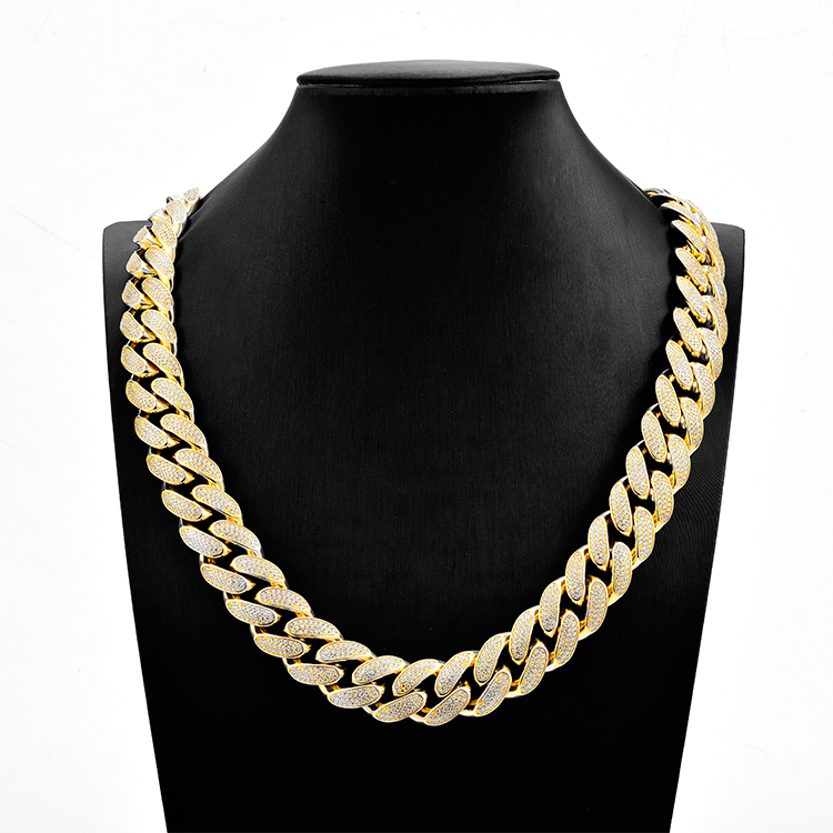Custom Luxe 20mm Hals Ketting 24 Inch 426g 14 k/18 k/24 k Solid Gold ketting Ontwerp