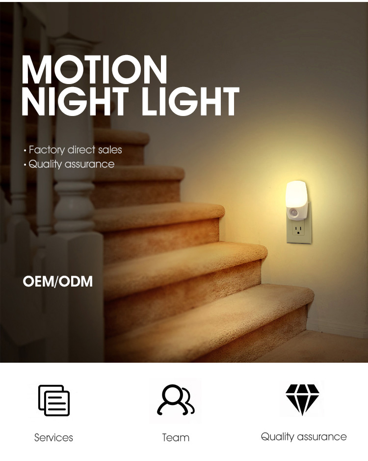 Motion Sensor Stecker Typ Nacht Lichter Wireless Motion Aktiviert Lichter LED