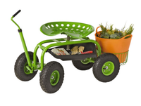 TC4501D Rolling Garden Work Seat On Wheels With Bucket Basket TC4501D