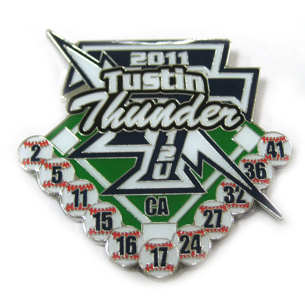 Wholesale Popular Metal Sport Baseball Trading Enamel Badge Lapel Pin <strong>Custom</strong>