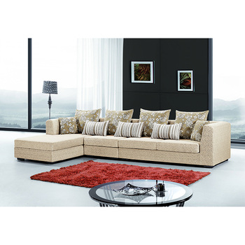 2016 new american luxury design sofa high arm soft fabric upholstered