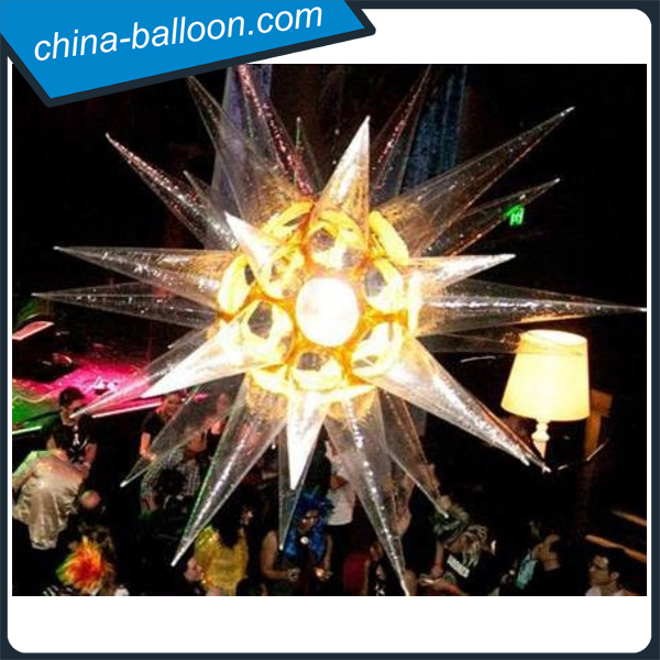 New design inflatable clear star / hanging decoration inflatable planetoid