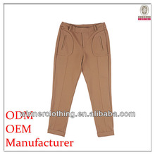 pants manufacturer ladies loose-fitting khaki uniform pants with inner pockets