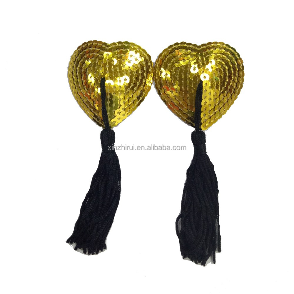 a7a4df7ea Sequin Pasties For Women Lingerie Breast Petal Pasty Adhesive Reusable with  Tassel