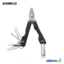 8 in 1 Stainless Steel Mini Multifunctional Pliers with Led Light