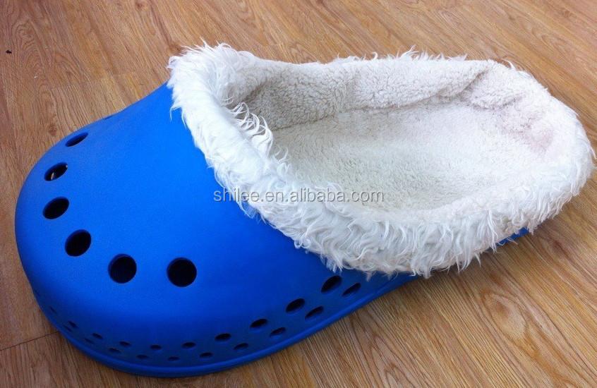 SHILEE Wholesale Popular Functional Design CROC Slipper Bed/ Shoe Shape Cat Bed/Cat Slipper Bed