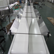 Double line PVC belt conveyor system for food industry