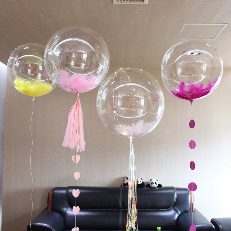 [partigos]10 18 24 36 inch perfect round transparent PVC Without Wrinkle bubble balloons for wedding birthday party decoration
