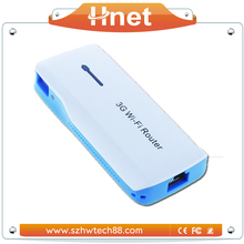 Ralink RT5350 chipset power bank mini 3g wifi router with rj45