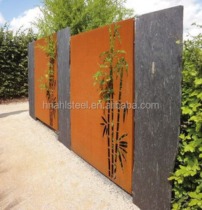 Laser cut decorative metal garden bamboo screen fence panel