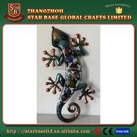 Great design OEM Metal art lizard wall decoration