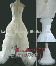 EB711allure fishtail bridal wedding dress halter exquisite beading bridal gown party dress