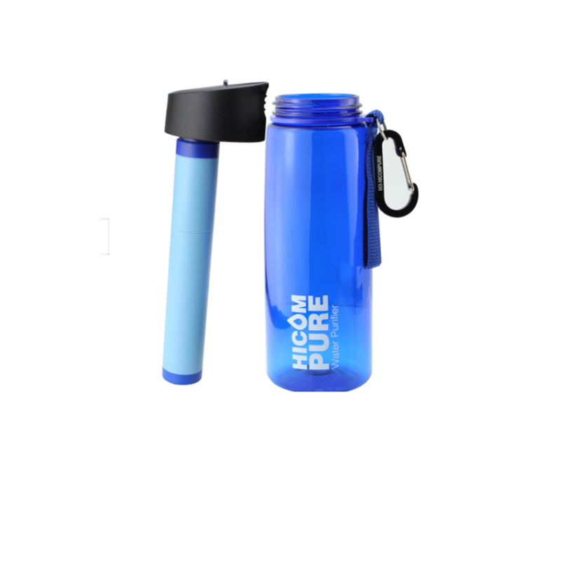 Outdoor Mini Water Filtration System 650ml Personal 0 01 Micron Portable Filter Bottle