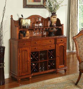 Antique Design Solid Wood Wine Cabinet,Display Cabinet,Home Bar ...