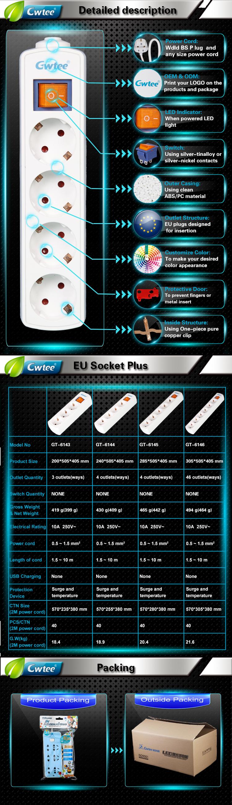 3 4 5 6 ways eu electrical switch sockets customized german socket rh alibaba com