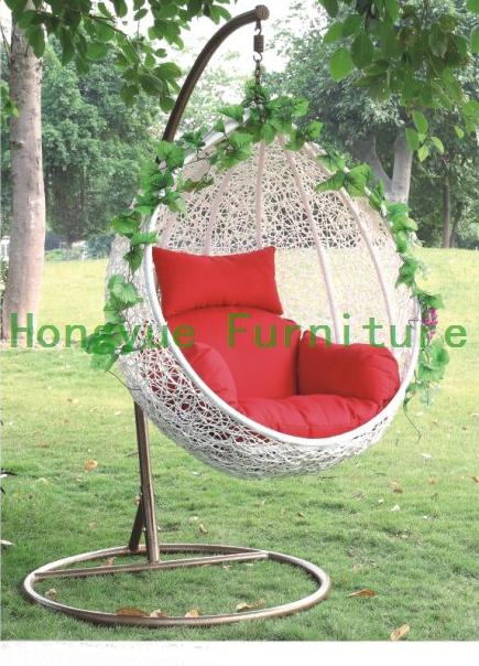 acheter forme d 39 oeuf blanc chaise en rotin hamac salon de jardin de mat riel de. Black Bedroom Furniture Sets. Home Design Ideas