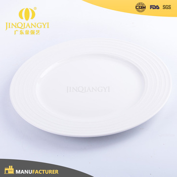 Grade A Wholesale Restaurant White Porcelain Dinner Plates With Logo ...
