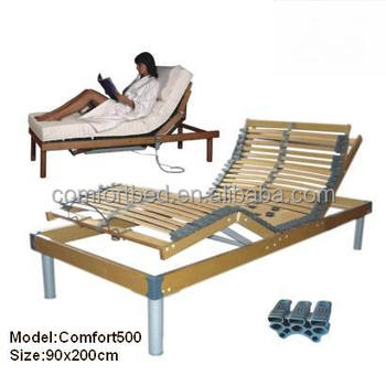 5 Zones Wooden Slats Adjustable Bed Frame Bed Adjustbale Bed - Buy ...