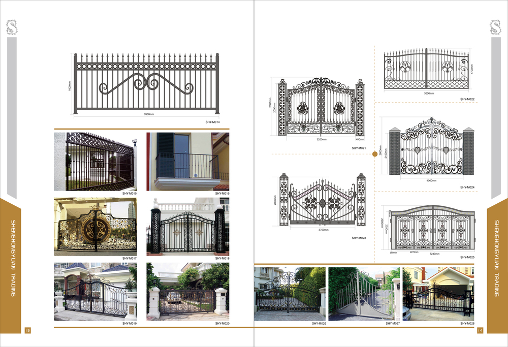 Modern Decorative Wrought Iron Gates Models For Homes,Factories ...