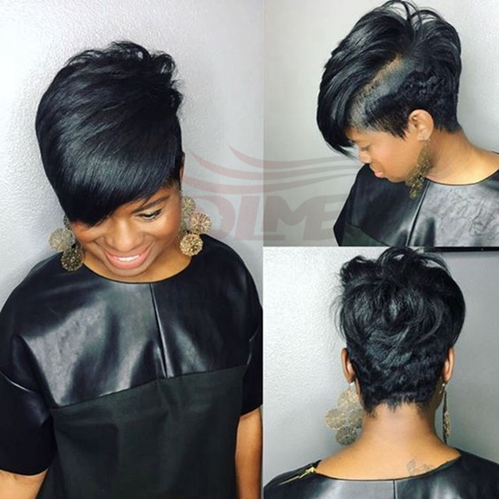 Wholesale Indian Virgin 27 Pieces Short Human Hair For Black Women Short Straight Bump Hair Extension Real Human Hair 2pcs/lot