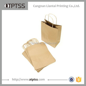 Custom made craft gift kraft paper shopping bag