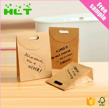 High quality custom die cut craft paper bag gift paper bag with logo print