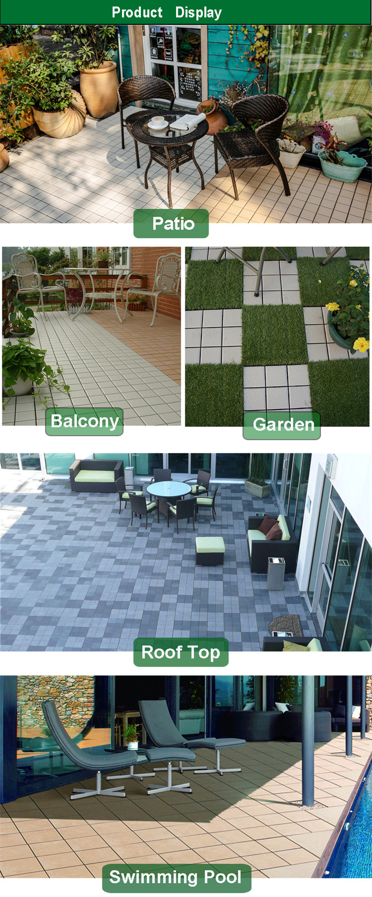 Chinese supplier cheap porcelain decking tile raised floor chinese supplier cheap porcelain decking tile raised floor interlocking ceramic tiles dailygadgetfo Gallery