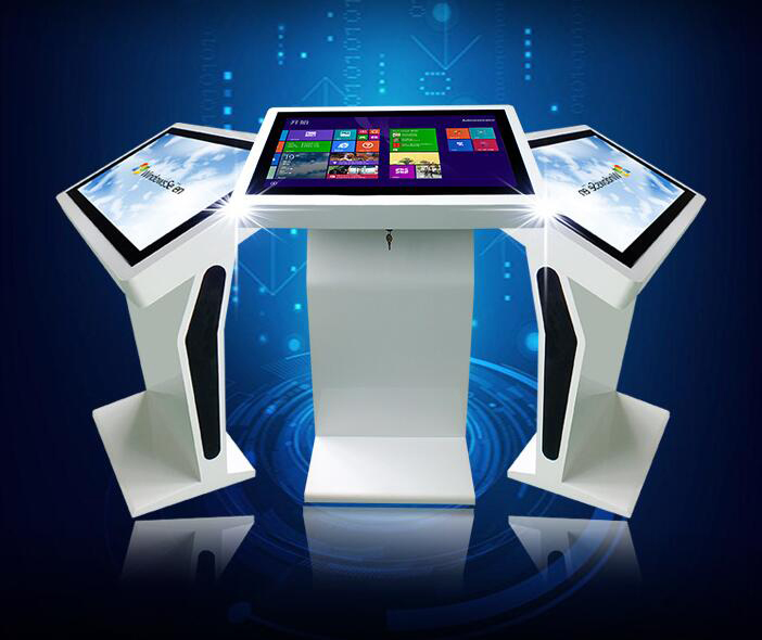 43 inch Free Standing Tablet Kiosk All In One PC Touchscreen for shopping mall airport hotel restaurant store use