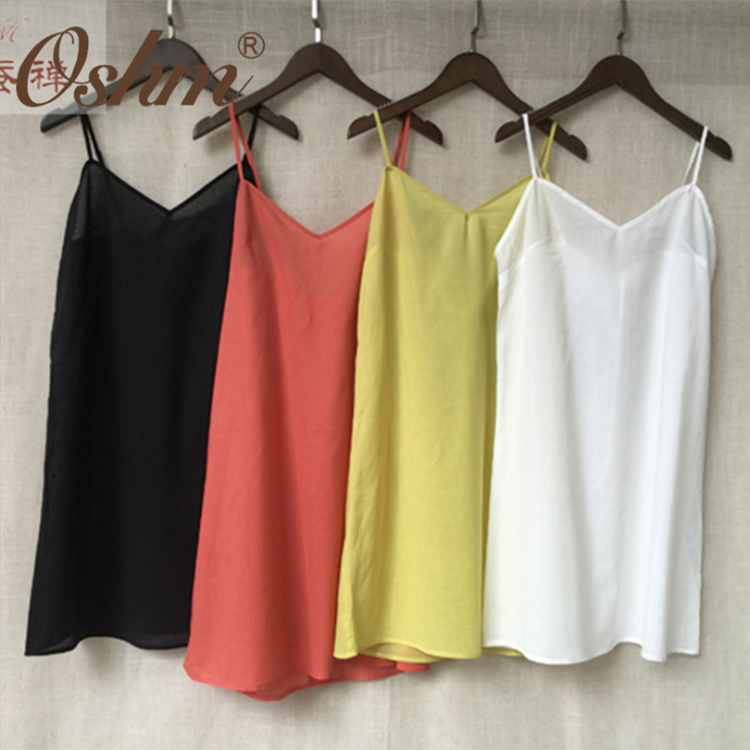 Color bright 100% cotton camisole tops for women under garment
