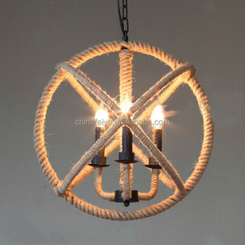 Industrial Design Hemp Rope Lights Handmade Lamps/pendant Lamp