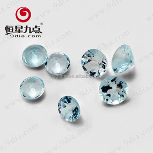 Natural Gemstone Round Cut 3mm Wholesale Sky Blue Topaz For Sterling Silver Jewelry