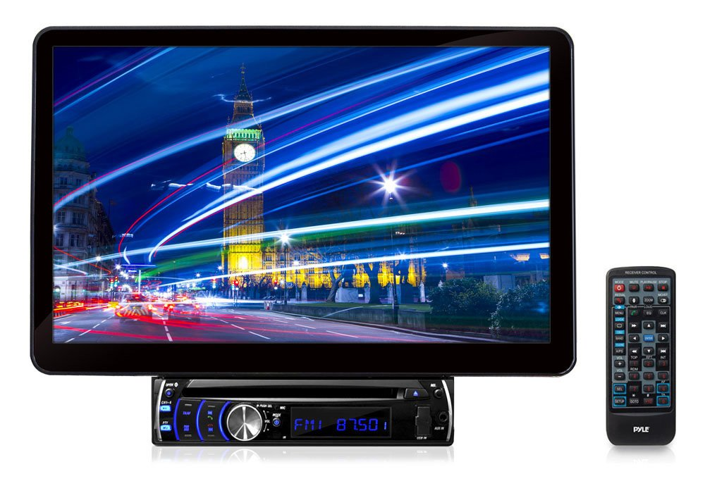 Pyle PLSD131BT Bluetooth 13.1-Inch Hi-Res Touch Screen Multimedia Receiver Head-Unit, Motorized and Detachable Display