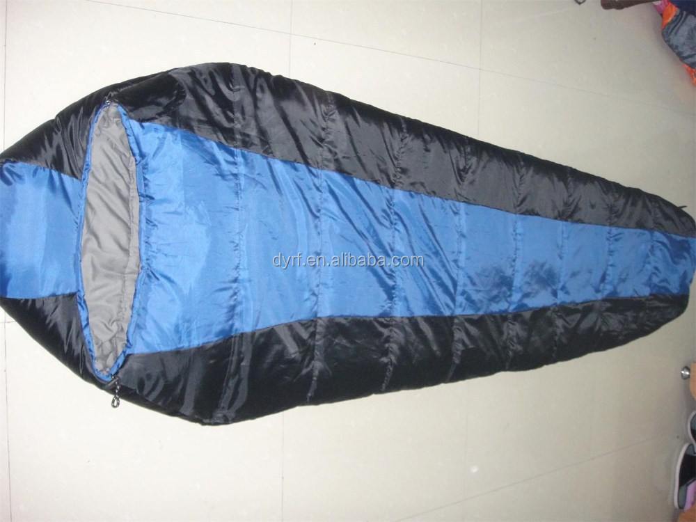 Mummy sleeping bag with double layer