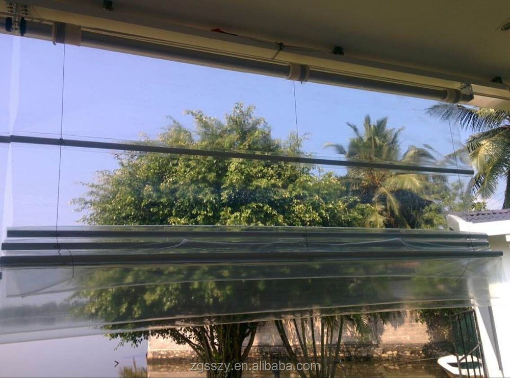 Outdoor Window Clear Pvc Blinds Waterproof Transparent