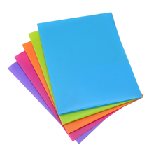 Wholesale cheap custom Colorful A4 PP plastic 2 pocket document file folder