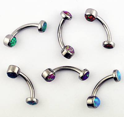 Dermal Anchor Tops synthétique Opal Body Jewelry Titanium Tops avec 16 G 4 mm