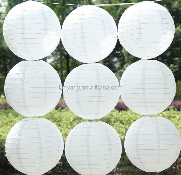 8Inch 12 inch 10Cm 20Cm 30Cm Chinese Round Paper Lantern For Birthday Wedding Party Decoration