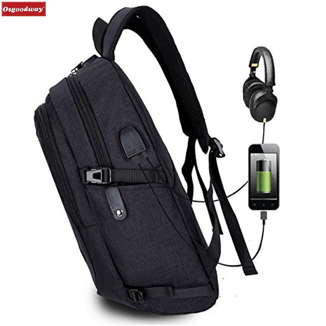 Osgoodway Anti-Theft Waterproof Business Travel Laptop Bag Backpack with USB Charging Port