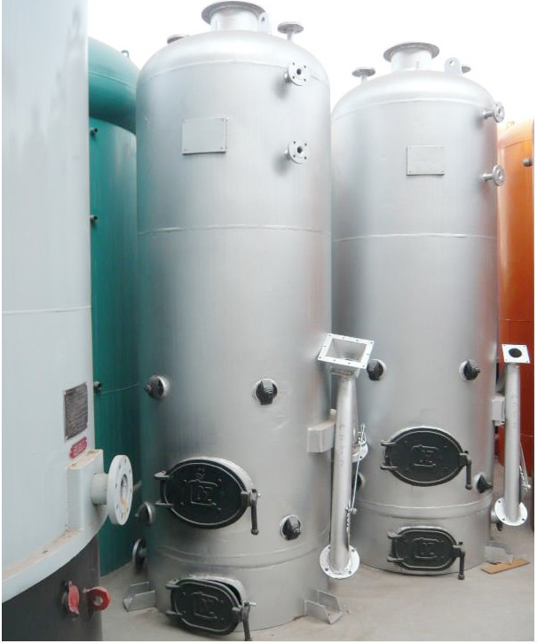 Small vertical wood fired water heater