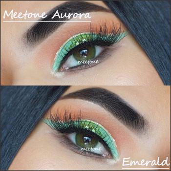 594dd65730645 Aurora Meetone Emerald Melhor Qualidade Coréia Meetone Macia Da Lente de  Contato