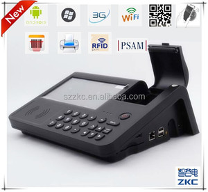 Portable gsm wireless pos terminal , gprs sms pos printer for online orders