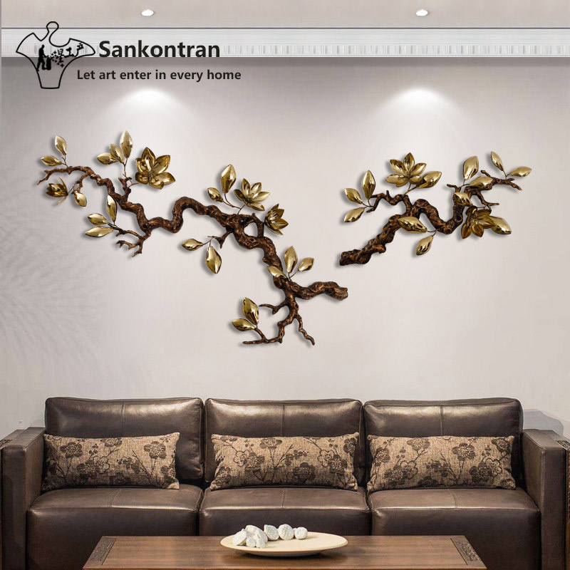 Metal Tree Branch Wall Art Decor