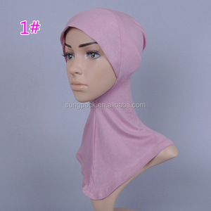 Muslim Women Hijab Caps Underscarf Bonnet Islamic Head Scarves Hat Cap Lace Neck Cover