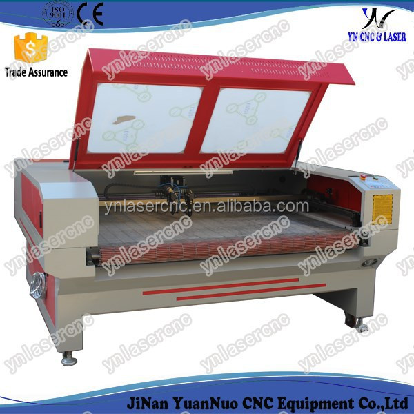 YNL1610 cnc laser business suit cutting machine for fabric / leather / cloth / etc