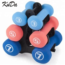 Neoprene <span class=keywords><strong>Dumbbell</strong></span> Set 3, <span class=keywords><strong>Dumbbell</strong></span> <span class=keywords><strong>Berat</strong></span> dengan Non-slip Grip, Multi Warna