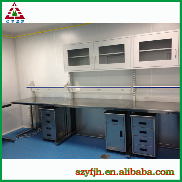 Stainless steel dental lab work bench